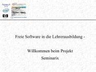 Freie Software in die Lehrerausbildung - Studienseminar Neuss