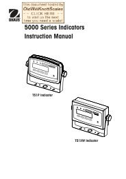 5000 Series Indicators Instruction Manual - Scale Manuals