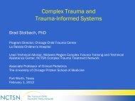 Complex Trauma and Trauma-Informed Systems - Mental Health ...