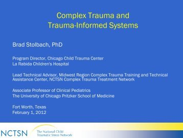Complex Trauma and Trauma-Informed Systems - Mental Health ...