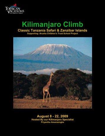 Climb Kilimanjaro Supporting: Arusha Children's ... - TPI Worldwide