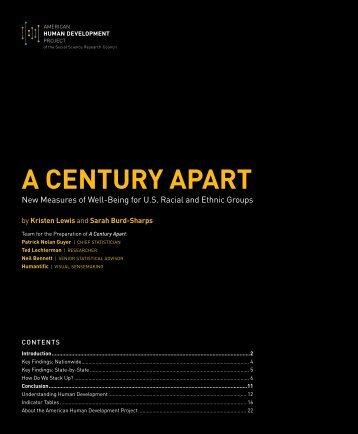 A CENTURY APART - Social Science Research Council