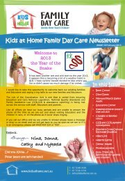 February/March 2013 - Kids at Home - Family Day Care