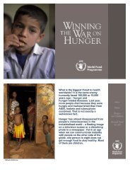 What is the biggest threat to health worldwide? It is the same ... - WFP