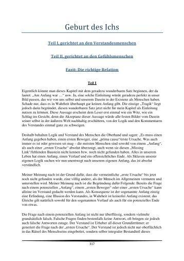 Kapitel 61 Geburt des Ichs - Geistesstille