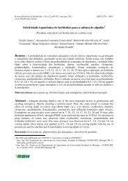 Seletividade toponômica de herbicidas para a cultura do algodão ...