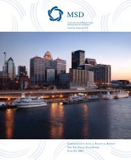 Comprehensive Annual Financial Report 2003 - MSD