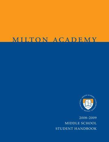 middle school calendar - Milton Academy
