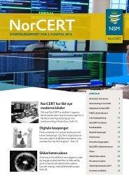 Kvartalsrapport for 2. Kvartal 2012 - NSM