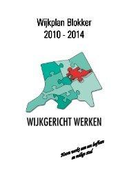 Wijkplan Blokker Wijkplan Blokker 2010 - 2014 - Gemeente Hoorn