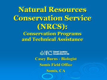 Natural Resources Conservation Service (NRCS): Natural ...