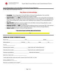 alumni post-close entry form - American Red Cross