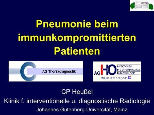 Pneumonie beim immunkompromittierten Patienten