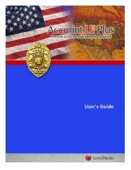 Accurint® for Law Enforcement PLUS - LexisNexis