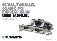 SERIAL/PARALLEL COMBO PCI EXPRESS CARD USER MANUAL