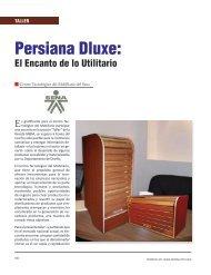 Taller Persiana Dluxe - Revista El Mueble y La Madera
