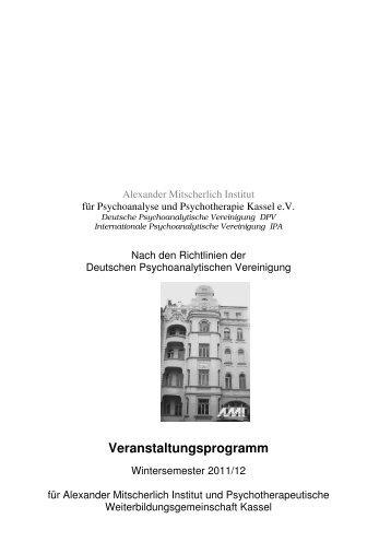 Wintersemester 2011/12 - Alexander-Mitscherlich-Institut für ...