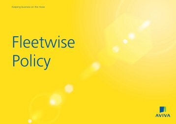 Fleetwise policy sample document - The Co-operative Insurance
