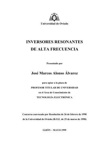 Inversores resonantes - Universidad de Oviedo