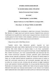 Baro Meclisi 16. Olağan Genel Kurulu - İstanbul Barosu