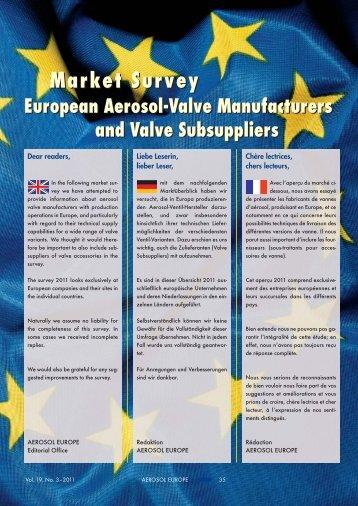 Market Survey European Aerosol-Valve ... - Aerosol Europe