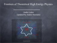 Frontiers of Theoretical High Energy Physics