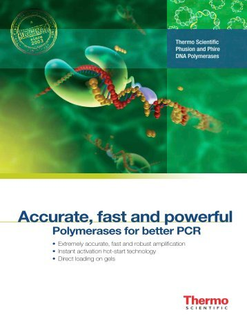 Accurate, fast and powerful - Biocenter