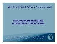 Programa de seguridad alimentaria y nutricional. - BVSDE