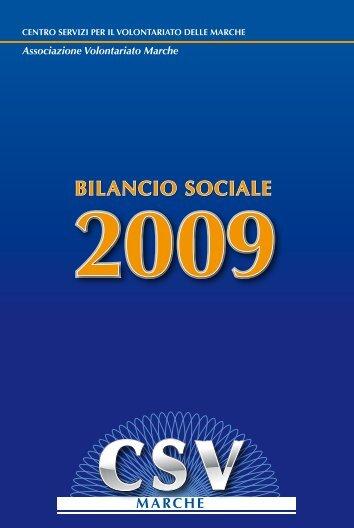 Bilancio Sociale 2009 - CSV Marche