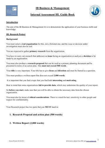 ib internal assessment Ib format p18-22 checklist for first assessment checklist p36 the written commentary, which is the internal assessment module for the business.