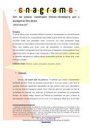 Além das palavras - Revistas de Acesso Aberto em Ciências da ...
