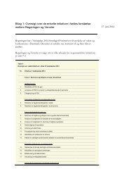 Bilag 1 - Oversigt over de enkelte initiativer i fælles forståelse mellem regeringen og venstre