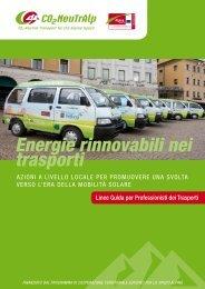 Energie rinnovabili nei trasporti - CO2-NeutrAlp