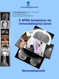 9. MTRA-Symposium am UniversitätsSpital Zürich - Radiologie ...
