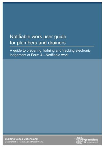 Plumbing application service user guidelines licensees