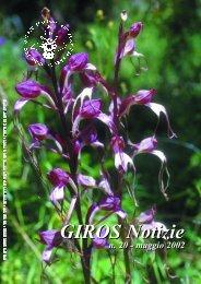 Notiziario 20 - GIROS - Gruppo Italiano per la Ricerca sulle ...