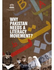 why pakistan needs a literacy movement? - UNESCO Islamabad