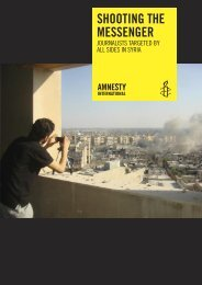 SHOOTING THE MESSENGER - amnesty.be