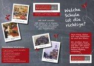 Info-Flyer - Progymnasium Rosenfeld