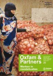 Oxfam&Partners 26 - Werken in noodsituaties - Oxfam-Solidariteit