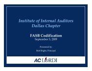 FASB Codification - IIA Dallas Chapter