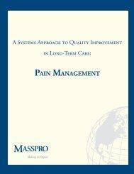 PAIN MANAGEMENT - Long-Term Care Best Practices Toolkit