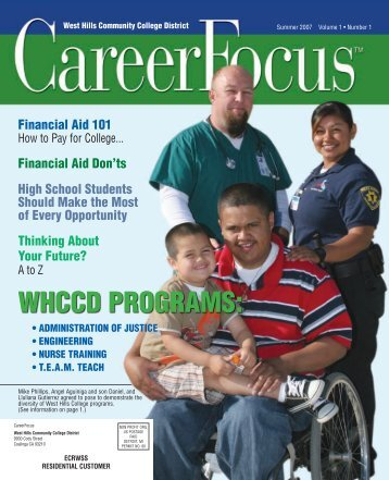 WHCCD PrOgrAMS: - West Hills College