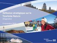 Présentation du diagnostic dans le cadre du ... - Tourisme Québec