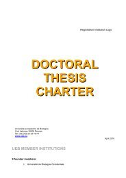 DOCTORAL THESIS CHARTER
