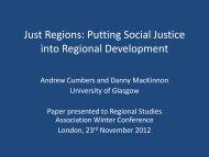 Just Regions: Putting Social Justice into Regional Development