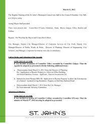 Council Minutes Monday, March 12, 2012 - City of St. John's