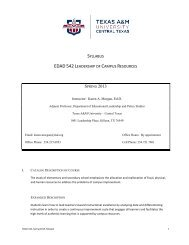 EDAK 542 110 Ldrshp of Campus Resources - Texas A&M ...