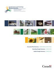 Corporate Plan Summary 2009-2010 to 2013-2014 - Musée des ...