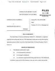 Plea Agreement : U.S. v. Martinair Holland N.V.